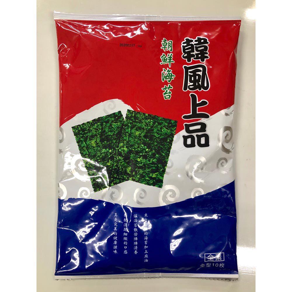 (聯華)韓風上品朝鮮海苔全形/10入38g(全素)