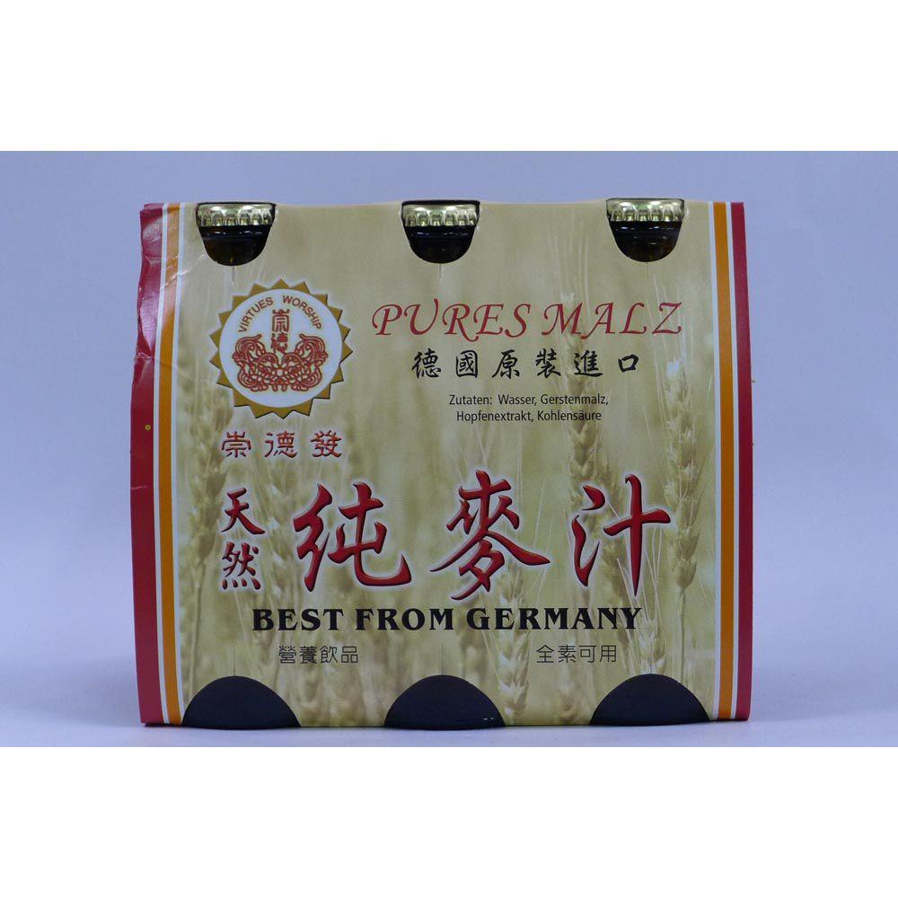 (崇德發)天然純麥汁玻璃330ml(全素)