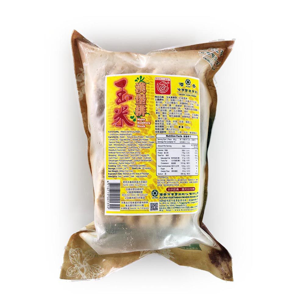 (儒齋)玉米漢堡排600g(蛋素)