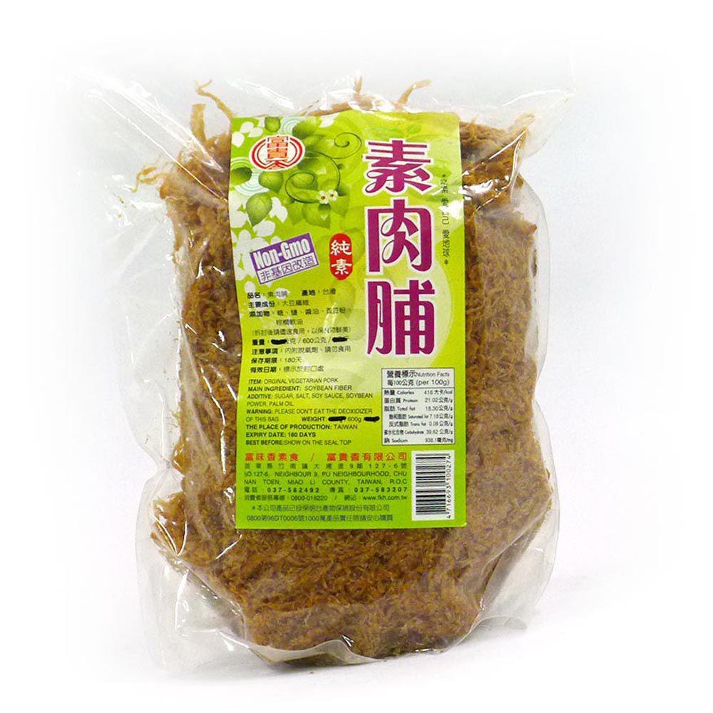 (富貴香)素肉脯600g(全素)
