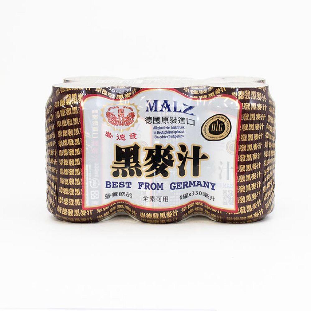 (崇德發)天然黑麥汁鋁罐330ml(全素)