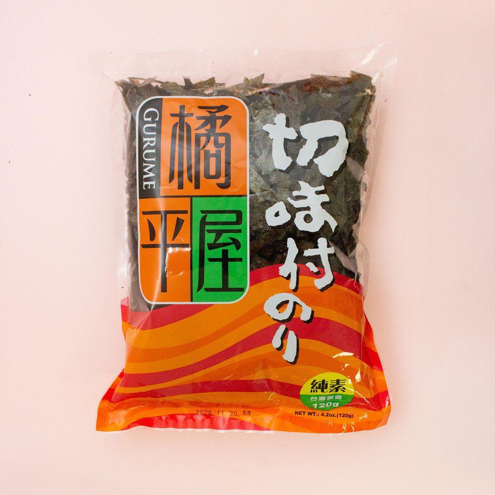 (橘平屋)味付海苔細片120g(全素)