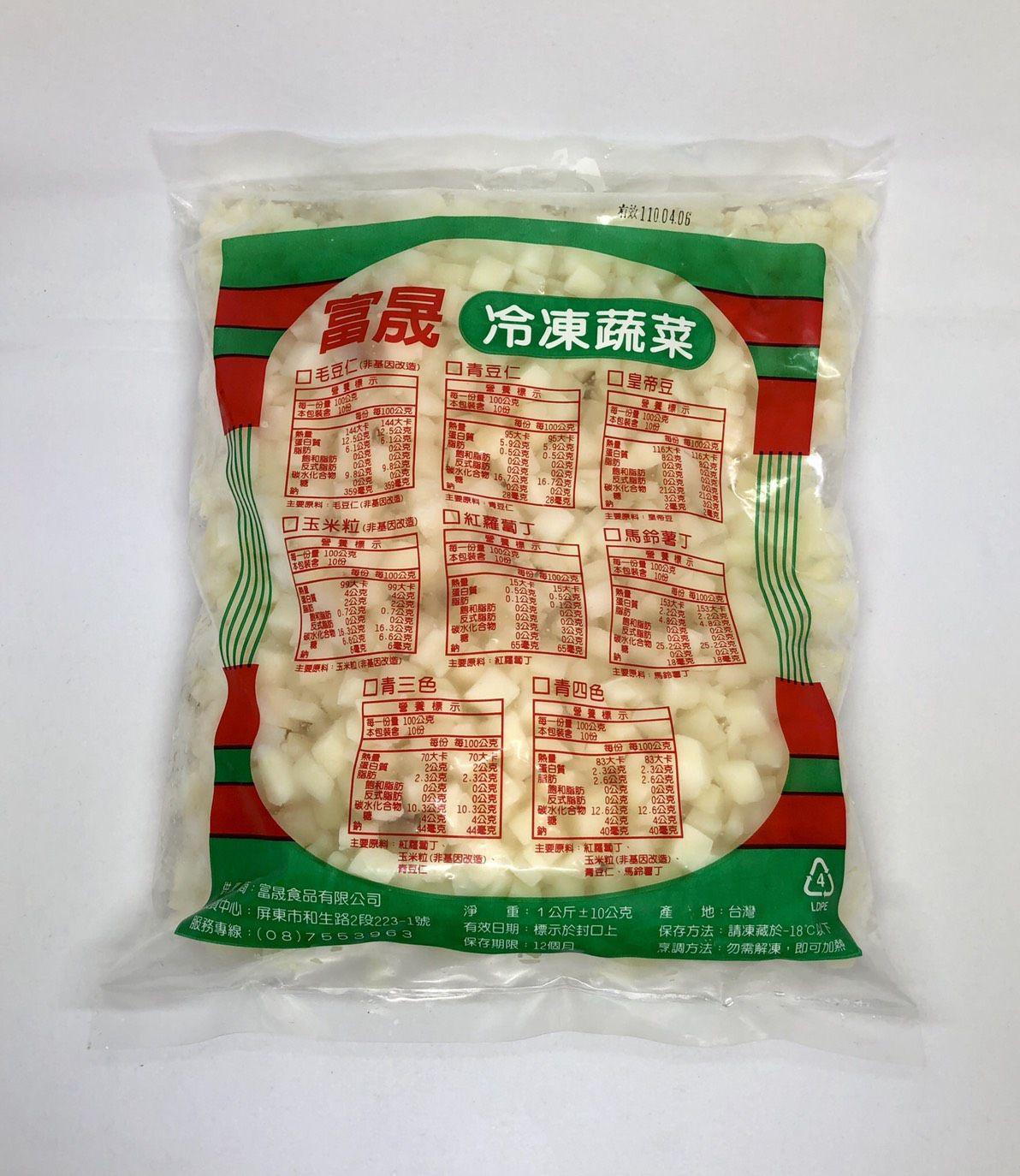 (富晟)冷凍馬鈴薯丁1kg(全素)