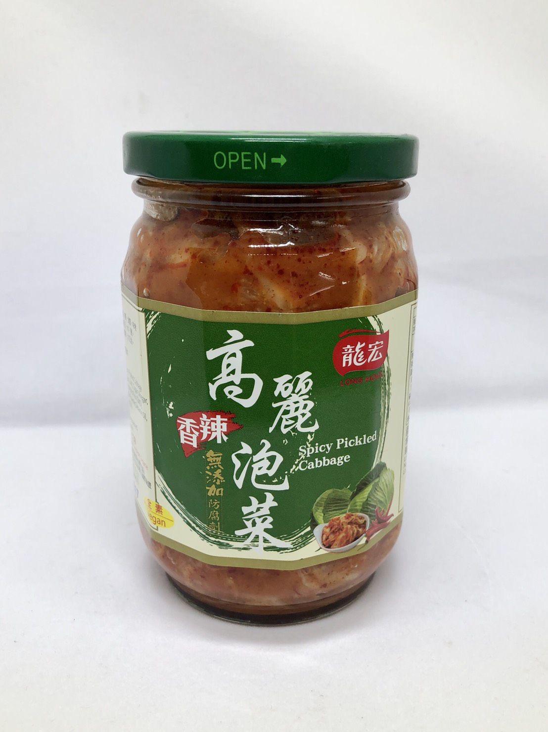 (龍宏)香辣高麗泡菜410g(全素)