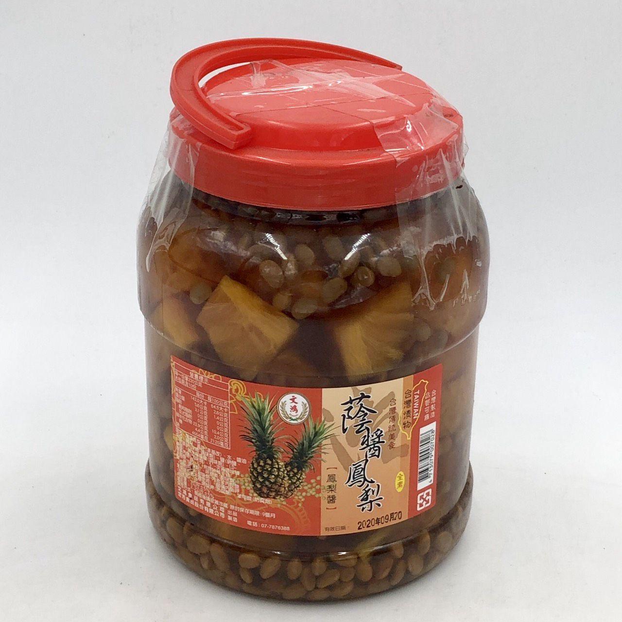 (文鴻)蔭醬鳳梨5斤(全素)