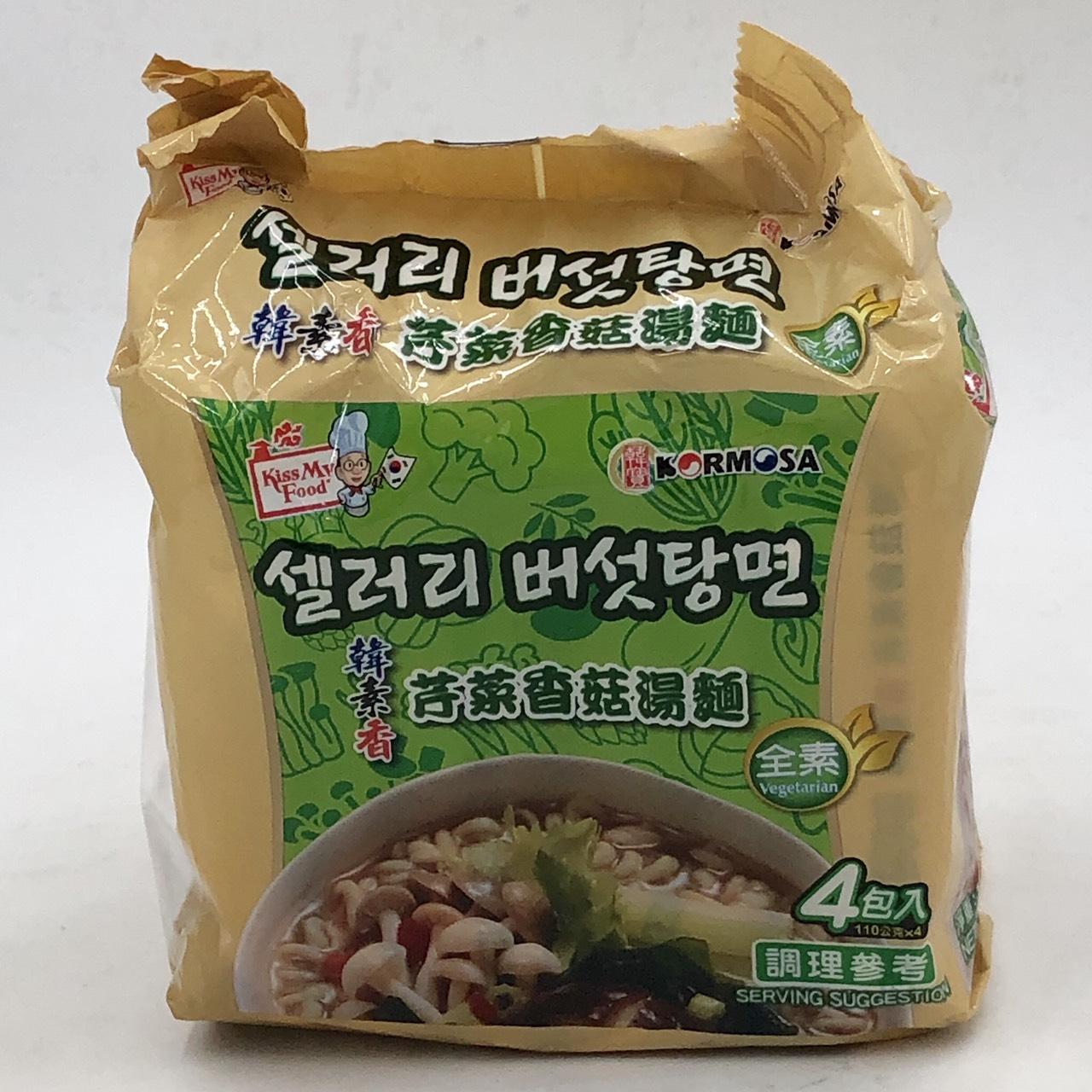 (韓素香)芹菜香菇湯麵440g(全素)