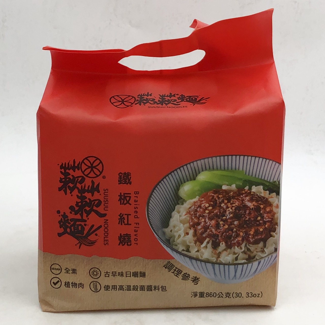 (蔌蔌麵)鐵板紅燒風味215g*4(全素)